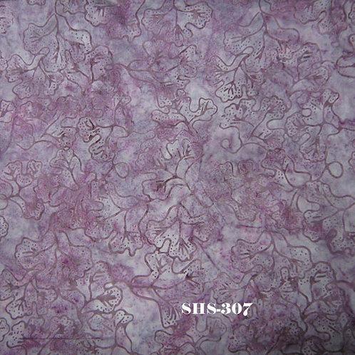 Java Batik SHS-307 Purple Leaves Quilt Fabric