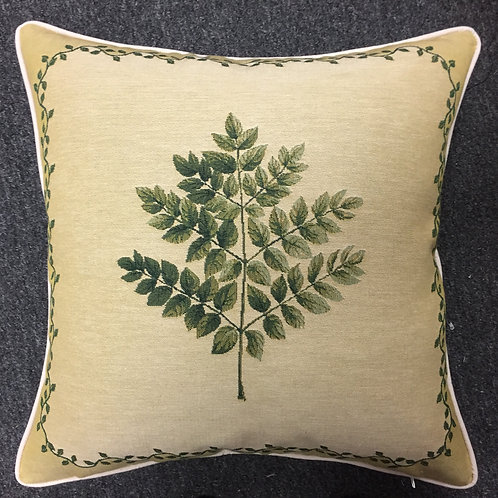 Leaf Design #2 Tapestry Cushion Cover