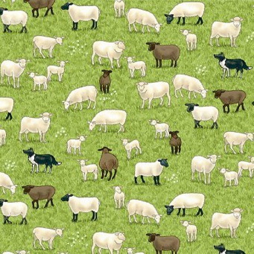 MakowerUK Village Life Sheep 94000 Col2 Quilt Fabric