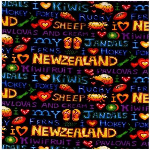 Nutex Novelty Kiwiana Kiwi Kapers Novelty Quilt Fabric