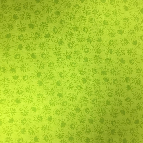 **SPECIAL** Mini Lime Green Floral Quilt Fabric