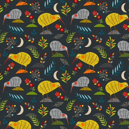 Nutex Novelty Forest Song Kiwi Quilt Fabric 89590 Col8