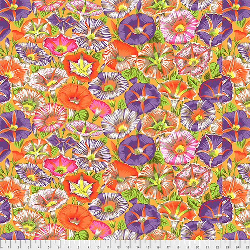 Kaffe Fassett Spring 2019 - Variegated Morning Glory Orange PJ098 Quilt Fabric