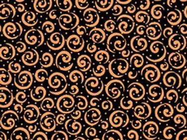 Moda Curly Cue Black/Copper Metallic 23538-JC Quilt Fabric