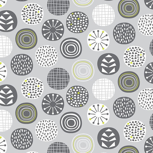 Nutex Leafy Meadow Circles 89990 Col 4 Quilt Fabric