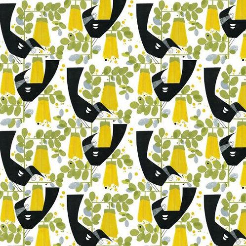 Nutex Kiwiana Tui & Kowhai Quilt Fabric