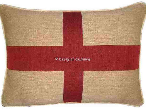 England English St George Flag Tapestry Oblong Cushion Co