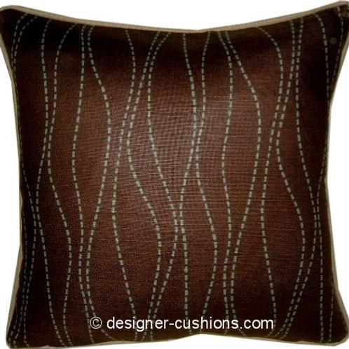 Romo Merril Chocolate & Duck Egg Cushion Cover