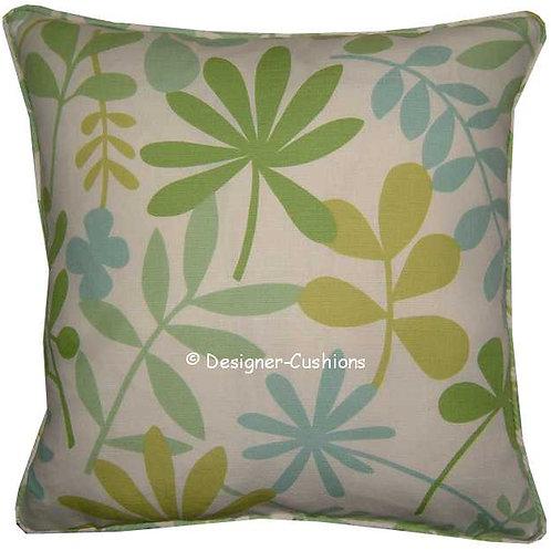 Jane Churchill 'Calder' Green Colourway Linen Cushion Cover