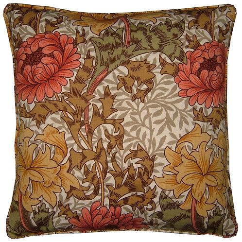 William Morris Chrysanthemum Major Linen Cushion Cover