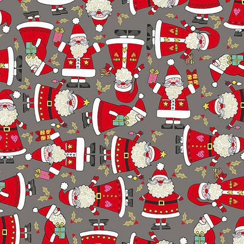 Makower Festive Christmas Santas Quilt Fabric
