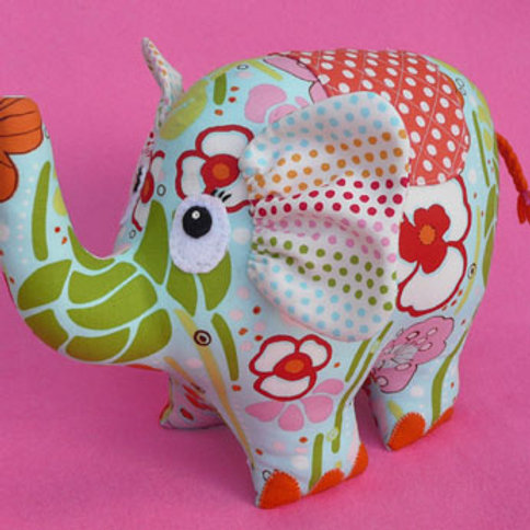 """Melly and Me """"Pheobe"""" Elephant Soft Toy Pattern MM040"""