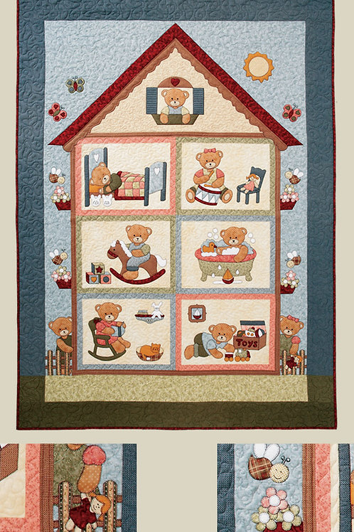 Kids Quilts 'Teddy Playhouse' Single Quilt Pattern