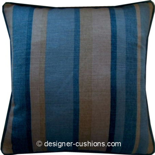 Laura Ashley Ripley Stripe Delphinium Cushion Cover
