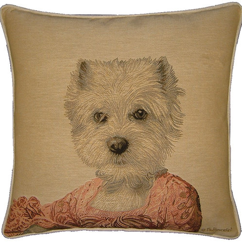 Thierry Poncelet Westie Girl Tapestry Cushion Cover