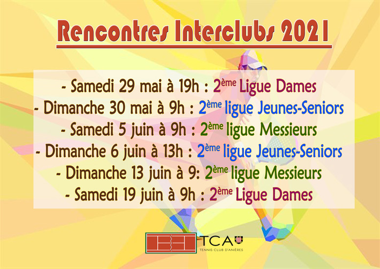Rencontres Interclubs 2021