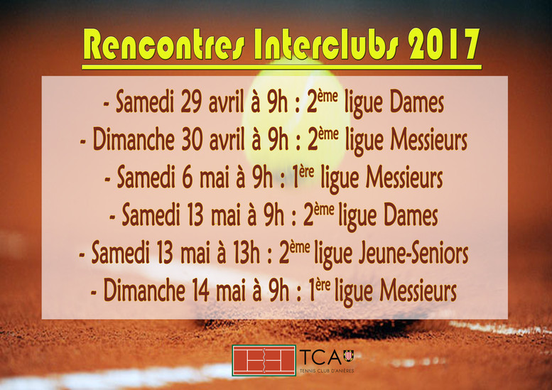 Rencontres Interclubs