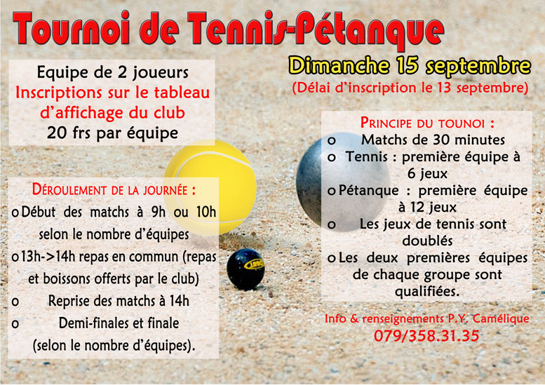 Tournoi Tennis-Pétanque