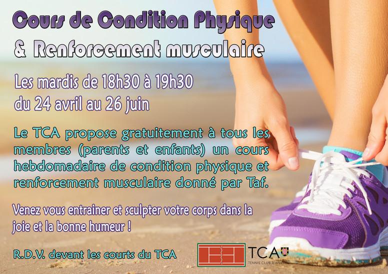 Cours de condition physique et renforcement musculaire