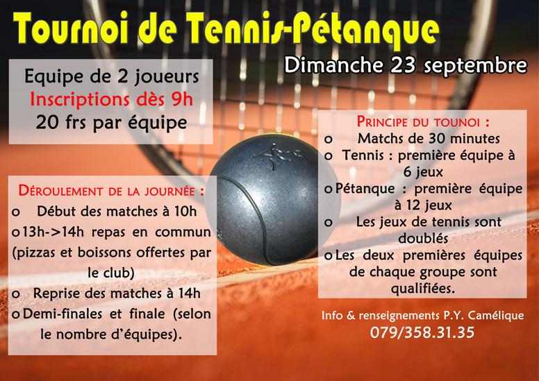 Tournoi de Tennis-Pétanque