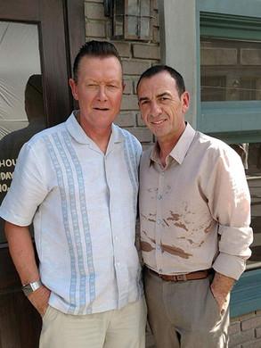 With Robert Patrick