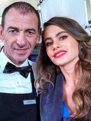 With Sofia Vergara