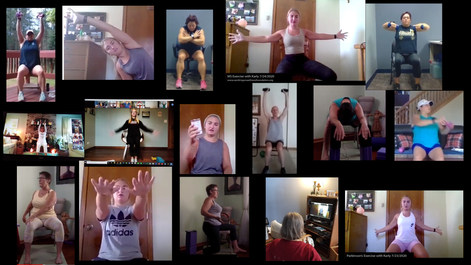 Samples of our online exercise sessions