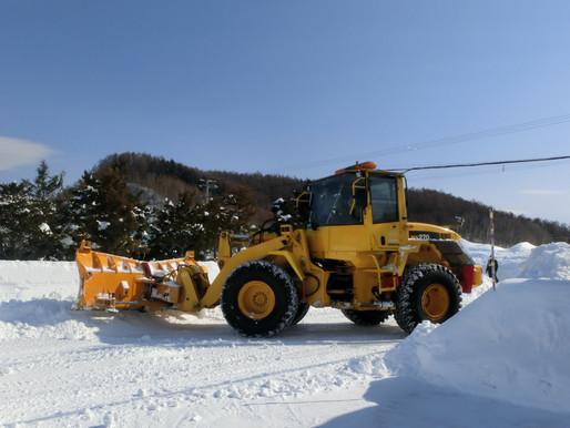 助かりました!町の除雪隊がやって来た