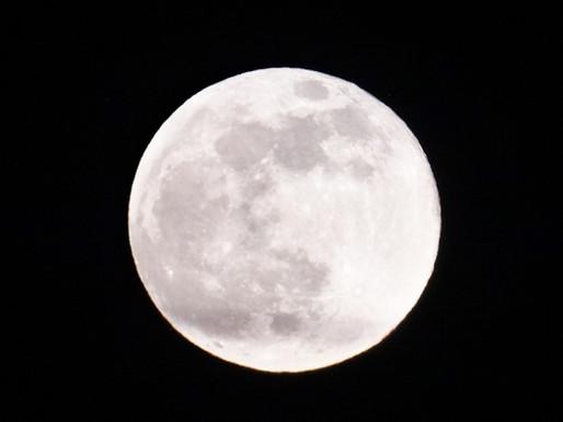 自然からのプレゼント 夕焼けから満月への天体ショー