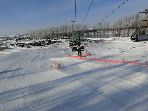 東川町内のスキー場で気分転換