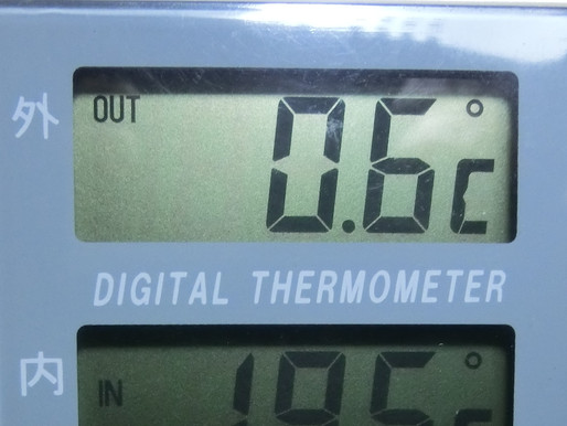 暦はめぐり6月 寒波の置きみやげで 寒い朝でした