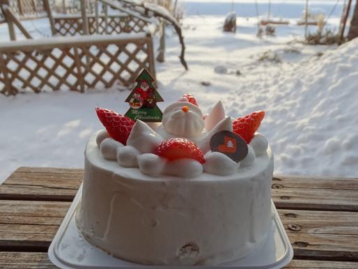 サンタさんからのプレゼント うれしいクリスマスケーキが届きました