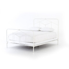 "Casey Bed 52""-White Iron"