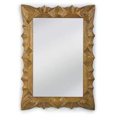 Tramp Art Mirror-Gold