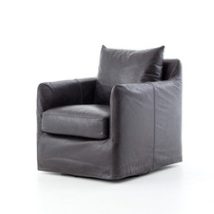 Banks Leather Swivel-Rider Black