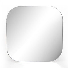 Bellvue Square Mirror-Silver