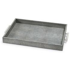 Rectangle Shagreen Tray-Gray
