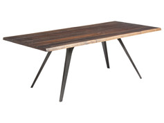 Vega Live Edge Dining Table-Black