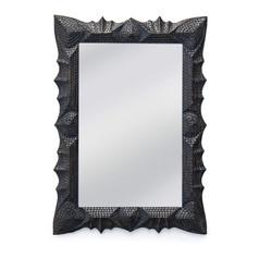 Tramp Art Mirror-Black