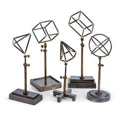 Geometrical Shapes on Stands