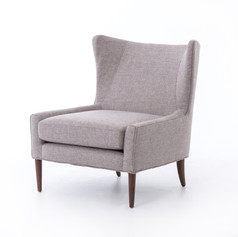 Marlow Wing Chair-Chess Pewter