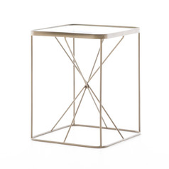 Lucas End Table w/ glass top