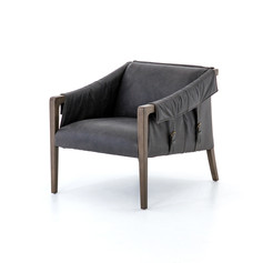 Bauer Leather Chair-Chaps Ebony