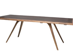 Vega Live Edge Dining Table-Gold