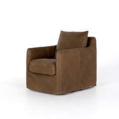 Banks Leather Swivel-Umber Grey
