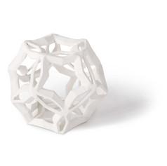 Geometric Star Medium-white
