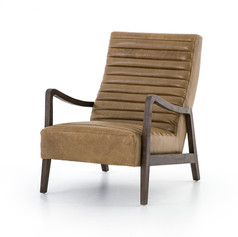 Chance Chair-Warm Taupe Dakota Leather