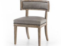 Carter Dining Chair-grey leather