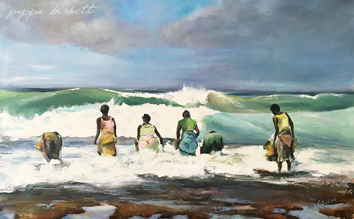 Mozambique Oysters Pickers