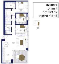 4 Room 121 m2 with 16 m2 Terrace.JPG